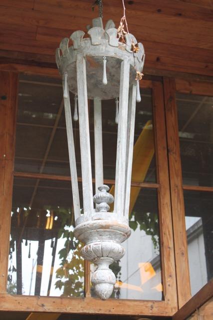 Lanterne en bois patin puces d 39 oc - Lanterne en bois ...
