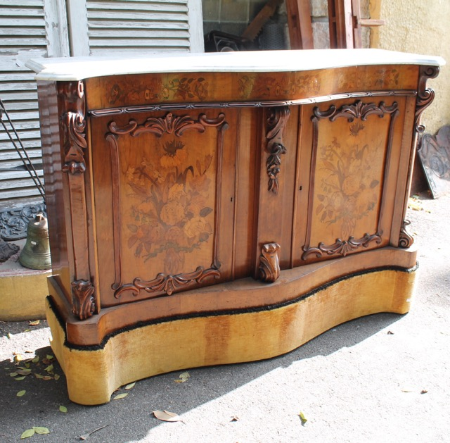 buffet meuble d appui epoque napol on iii en marqueterie. Black Bedroom Furniture Sets. Home Design Ideas