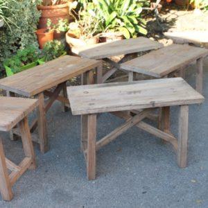 Banc Table Basse En Bois Brut Naturel Puces Doc Brocante En Ligne