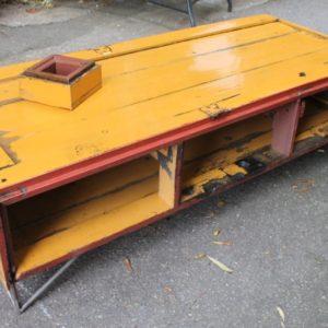 Table Basse Vintage Style Industriel Laque Jaune