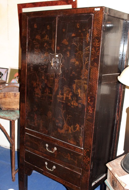 armoire shanxi d cors traditionnel chinois puces d 39 oc. Black Bedroom Furniture Sets. Home Design Ideas