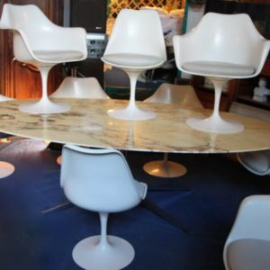 Ensemble Salle A Manger Grande Table Florence Knoll Sieges