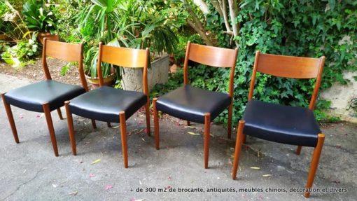 chaises scandinaves en teck