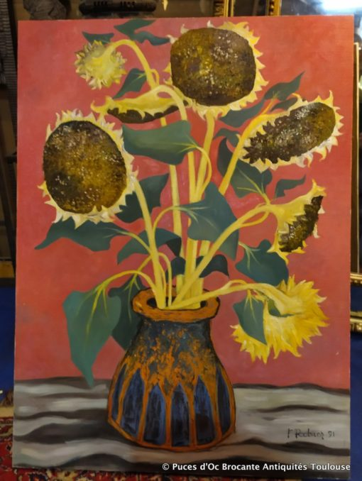 Tableaux huiles sur toiles Signés F. Ribier