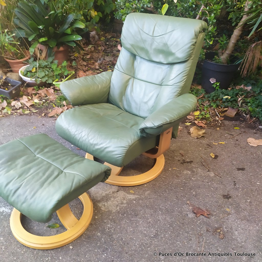 Serenity repose marque avec modèle Fauteuil pied cuir Stordal son relaxant 8nw0PkO