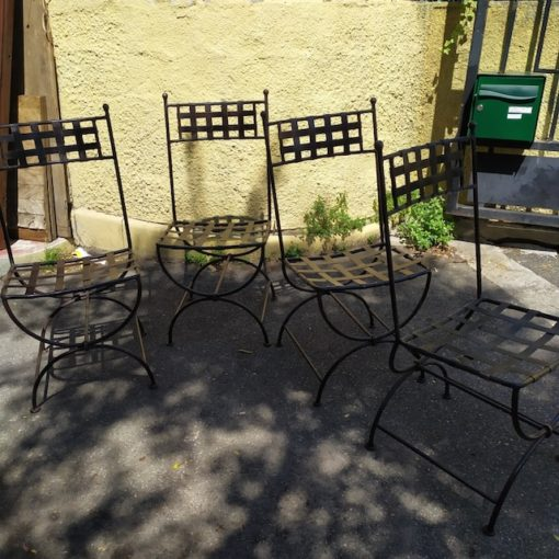 chaises fer forge