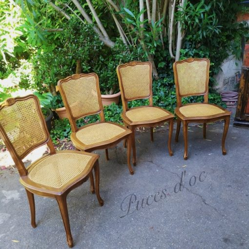 chaises cannage
