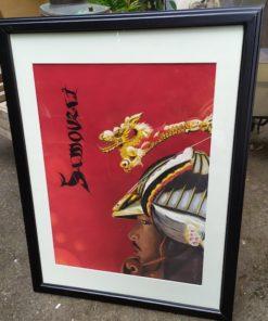 tableau pastel samouraï