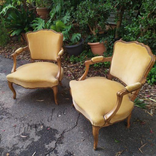 fauteuils bergères