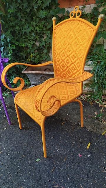 fauteuil africain fil de pêche plastique