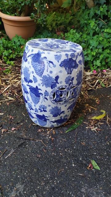 pouf porcelaine