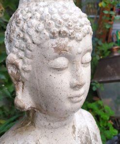 bouddha terre cuite vernissée