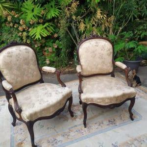 fauteuil bergère en palissandre