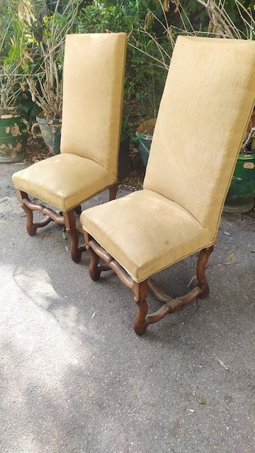 chaises os de mouton XVIIIe