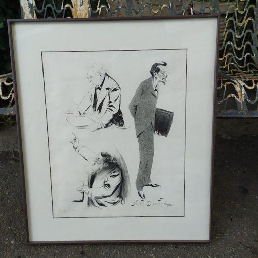 gravures caricatures noel dorville