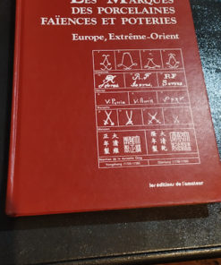 livre les marques des porcelaines faiences et poteries de dr Graesse et e. Jaennicke