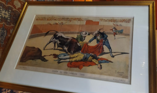 gravure ancienne corrida