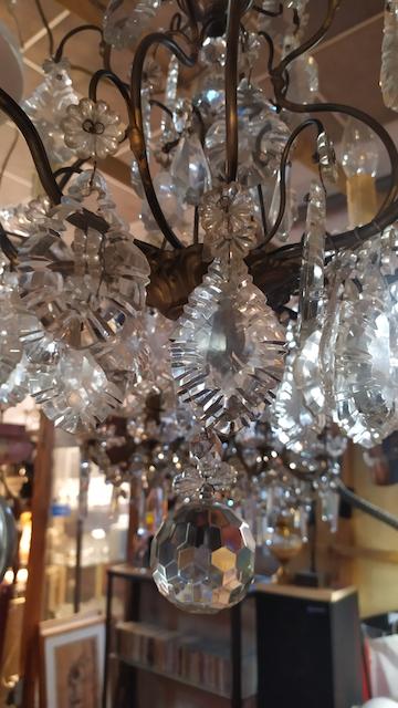 lustre a pampilles cristal