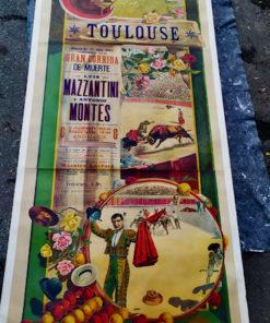 affiche ancienne corrida toulouse