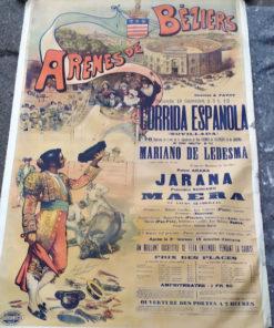 affiche ancienne taurine béziers