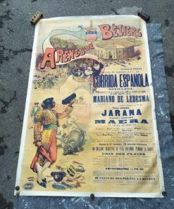 affiche taurine ancienne