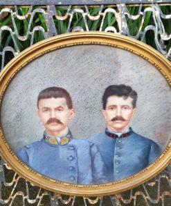 tableau pastel portrait militaire