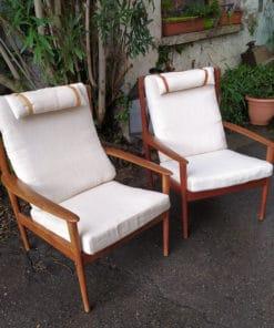 fauteuils scandinaves vintage