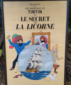 affiche couverture tintin