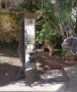 miroir vestiaire métallique