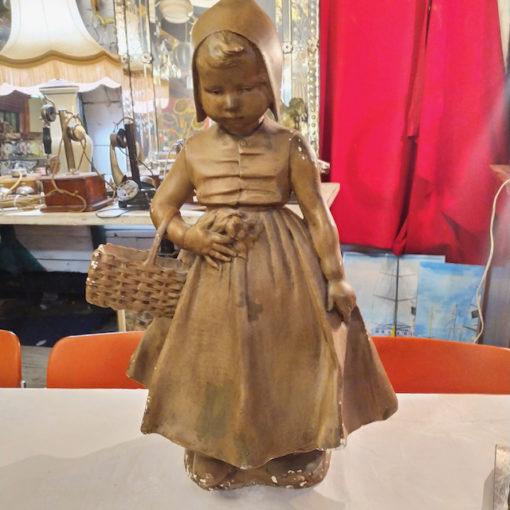 statue hollandaise en platre