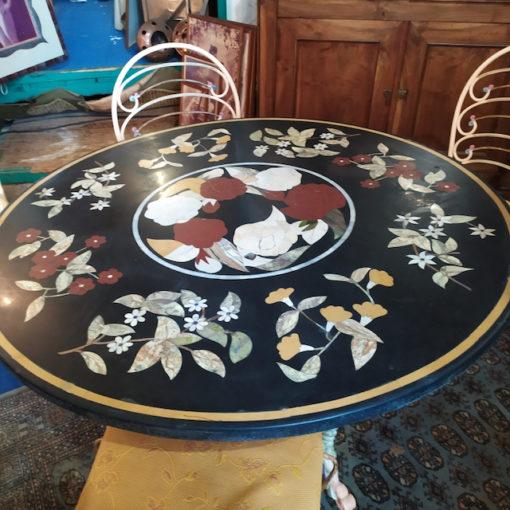 table marqueterie de marbre