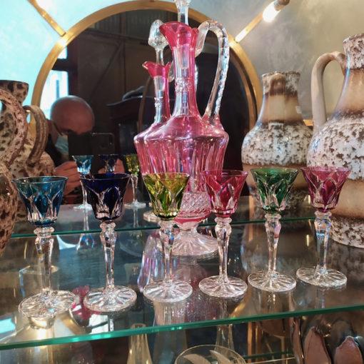 verres de couleur cristal st louis