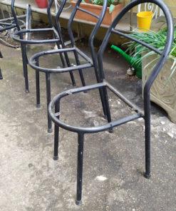 chaises metal vintage