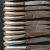 couteaux ercuis metal argente