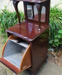 meuble a charbon ancien en acajou
