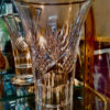 Vase cristal taillé et argent