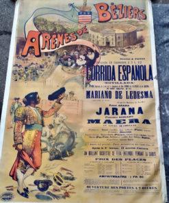 affiche ancienne tauromachie beziers