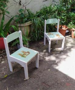chaises mobiliers enfants brocante