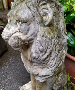 statue jardin lion ciment