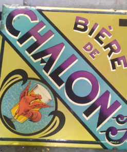 plaque publicite bistrot biere de chalon