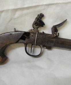 rare pistolet a coffre a silex