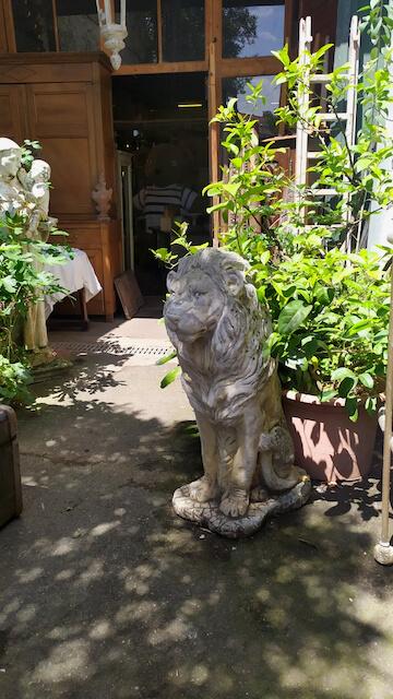 sculpture lion reproduction ciment