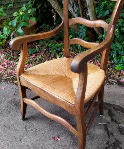 fauteuil paillé ancien