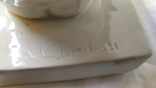 groupe en porcelaine signe l.badessi