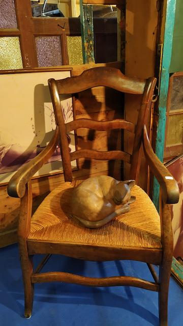 fauteuilpaillee ancien