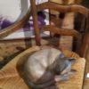 chat en bois