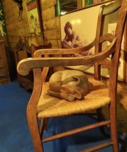 fauteuil rustique paille