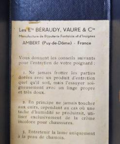Dague officier Armée de l'Air Française BERAUDY VAURE AMBERT