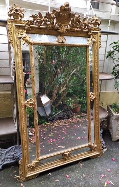 miroir doré a parcloses