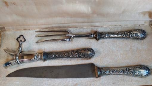 servicxe a decouper metal argente